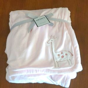 Carter's Light Pink Baby Blanket NWT